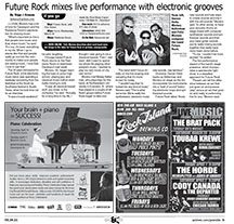 Electronic music band mixes performance with electric grooves