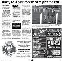 Drum-and-bass post-rock band perform at River Music Experience