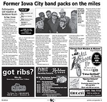 Former Iowa City-based band packs on the miles traveling country